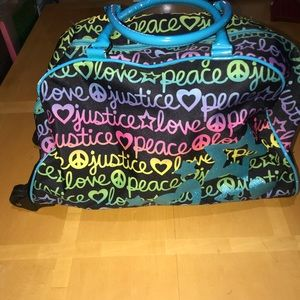 Justice Rolling Sleepover Bag